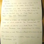 Mysterious Handwritten Letter
