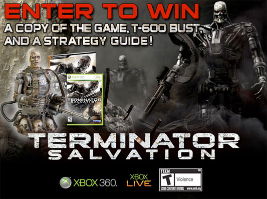 Terminator Salvation giveaway banner