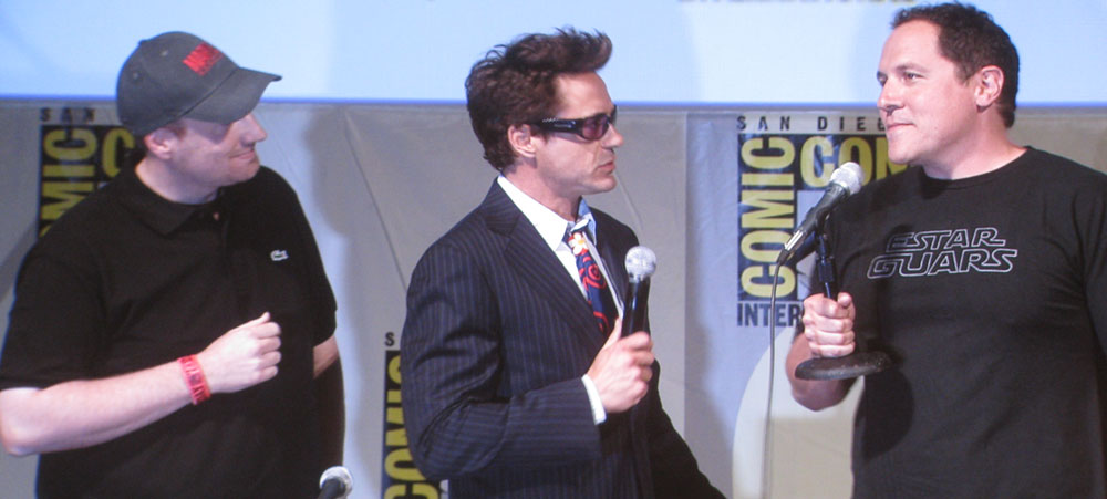 SDCC 09: Robert Downey Jr. scolds Director Jon Favreau during the Iron Man 2 panel