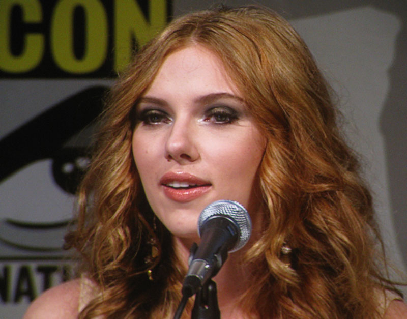 SDCC 09: Scarlett Johansson during the Iron Man 2 panel