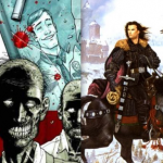 The Walking Dead and A Game of Thrones cover art
