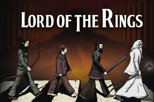 Beatles Lord Of The Rings - Moria Road