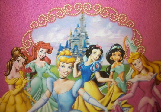 Disney World postcard - princesses