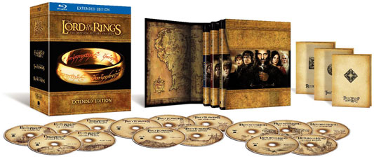 Lord of the Rings blu-ray trilogy set