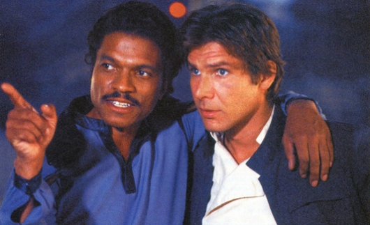 Lando Calrissian and Han Solo