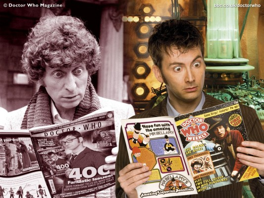 Tom Baker and David Tennant - Doctor Who