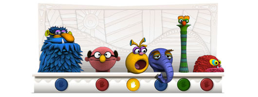 Jim Henson 75th Birthday Google Graphic