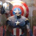 NYCC 2011: Preview Night: Marvel Avengers booth: Captain America display
