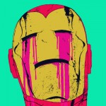 Bonefaces Smack! Bloodied Iron Man Art print