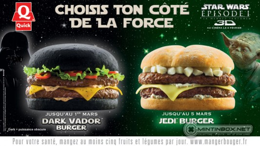 Darth Vader and Yoda Burger