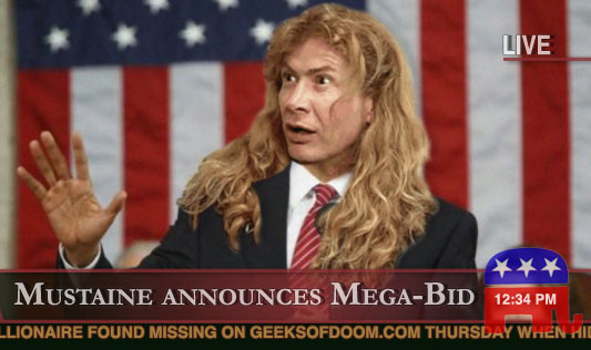 Dave Mustaine announces presidential bid