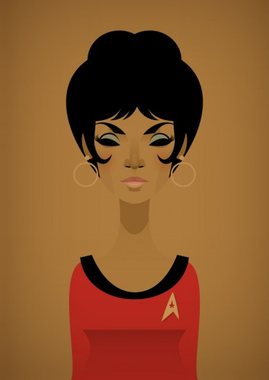 Stanley Chow&#039;s Star Trek Uhura Art