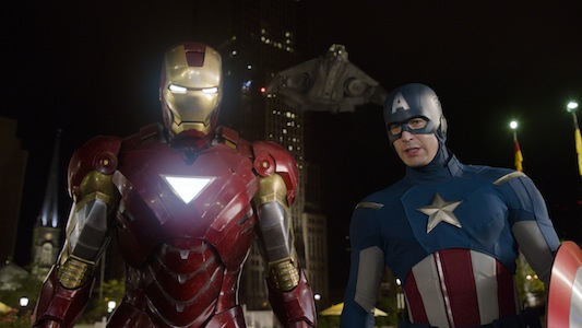 The Avengers Iron Man and Captain America