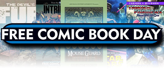 Free Comic Book Day banner