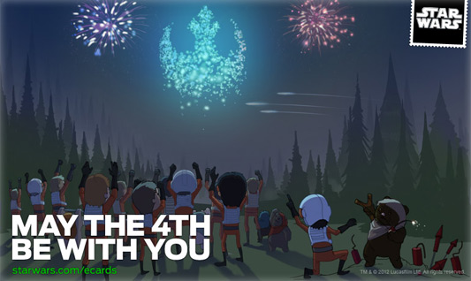 May The 4th Be With You Star Wars ecard Endor