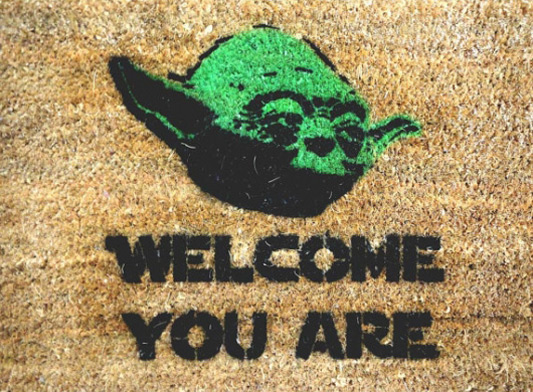 Welcome You Are With This Yoda Doormat