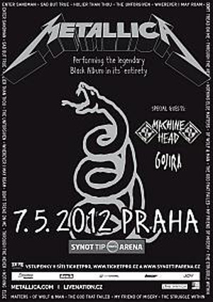 Metallica Black Album gig flyer