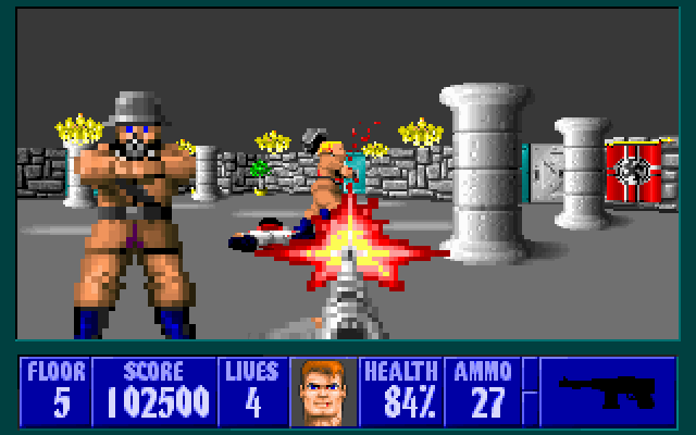 how to play wolfenstein 3d