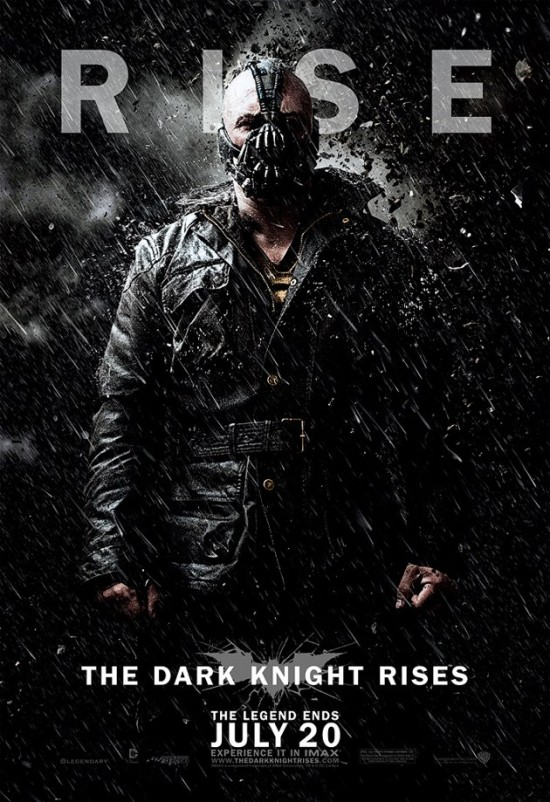 The Dark Knight Rises Bane in Rain Poster