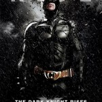 The Dark Knight Rises Batman in Rain Poster