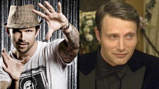 Ashley Hamilton and Mads Mikkelsen