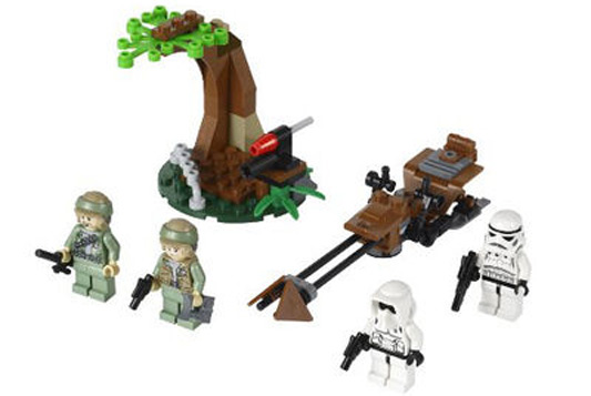 Lego Star Wars Endor Rebel Trooper and Imperial Trooper