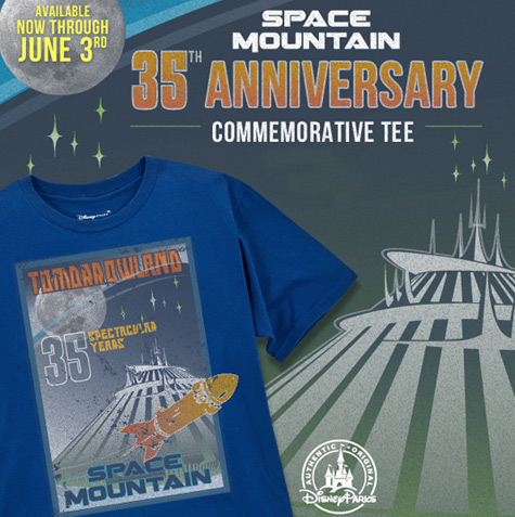 Disneyland Space Mountain 35th Anniversary T-shirt