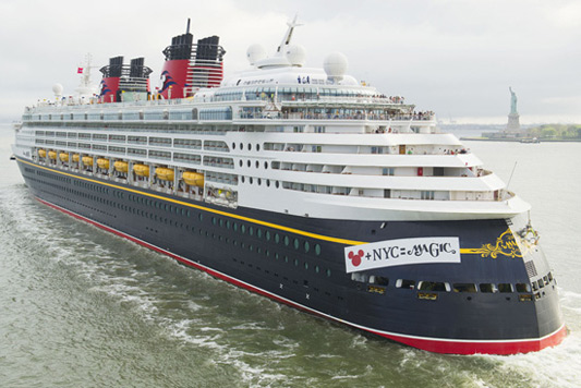 Disney Magic cruise ship in New York City
