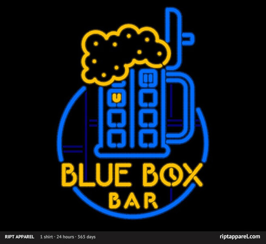 Doctor Who Blue Box Bar shirt