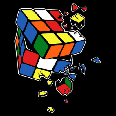 Exploding Rubix Cube