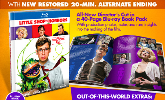 Little Shop Of Horrors Director's Cut Blu-ray Book