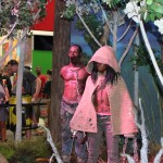 SDCC 2012: Preview night photos: The Walking Dead booth with life-sized Michonne and zombie pet