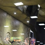SDCC 2012: Preview night photos: Indiana Jones climbing out of the Booth