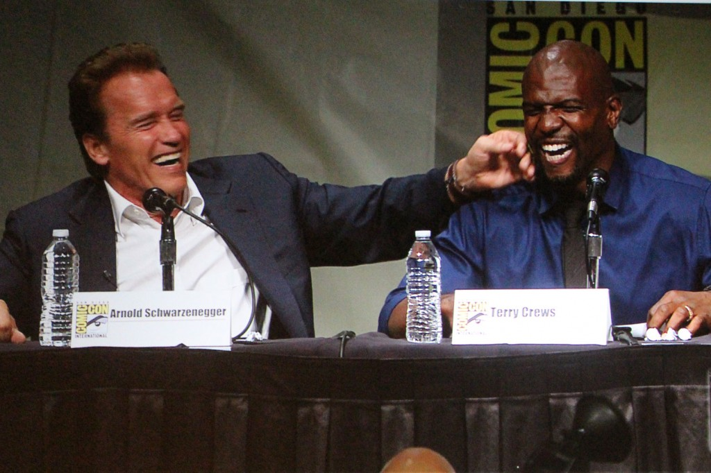 SDCC 2012: The Expendables 2 Panel: Arnold Schwarzenegger and Terry Crews