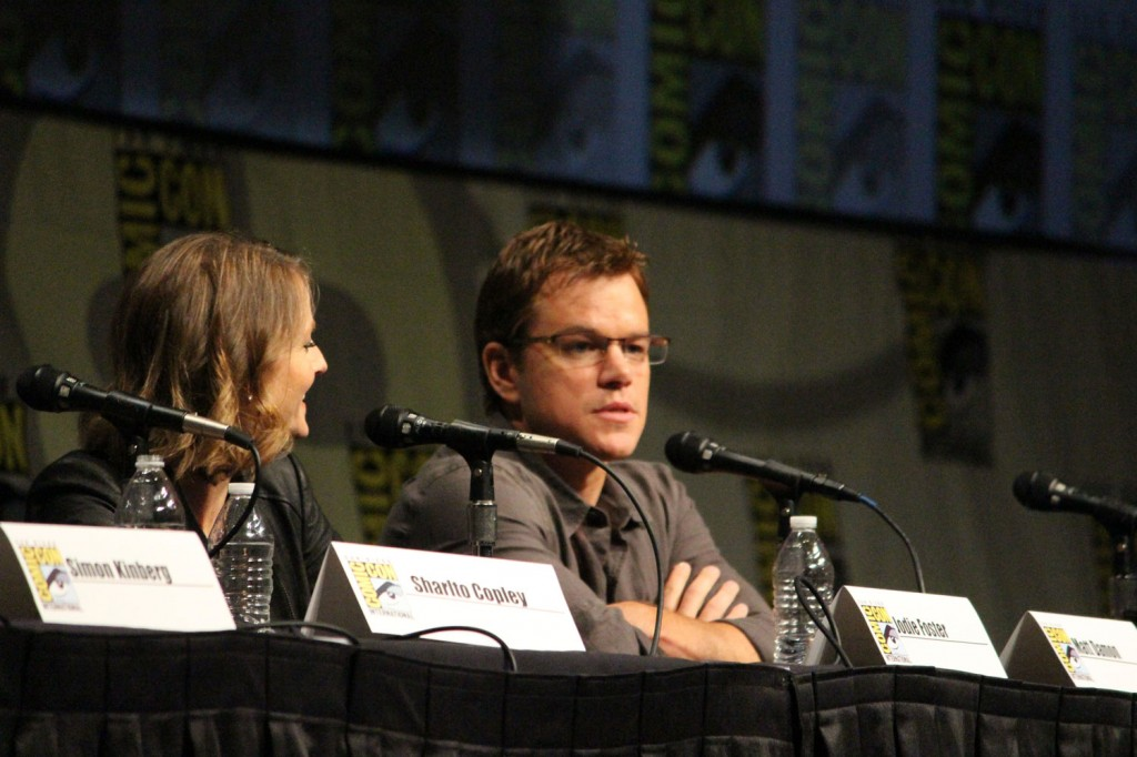 SDCC 2012: Elysium panel: Jodie Foster, Matt Damon