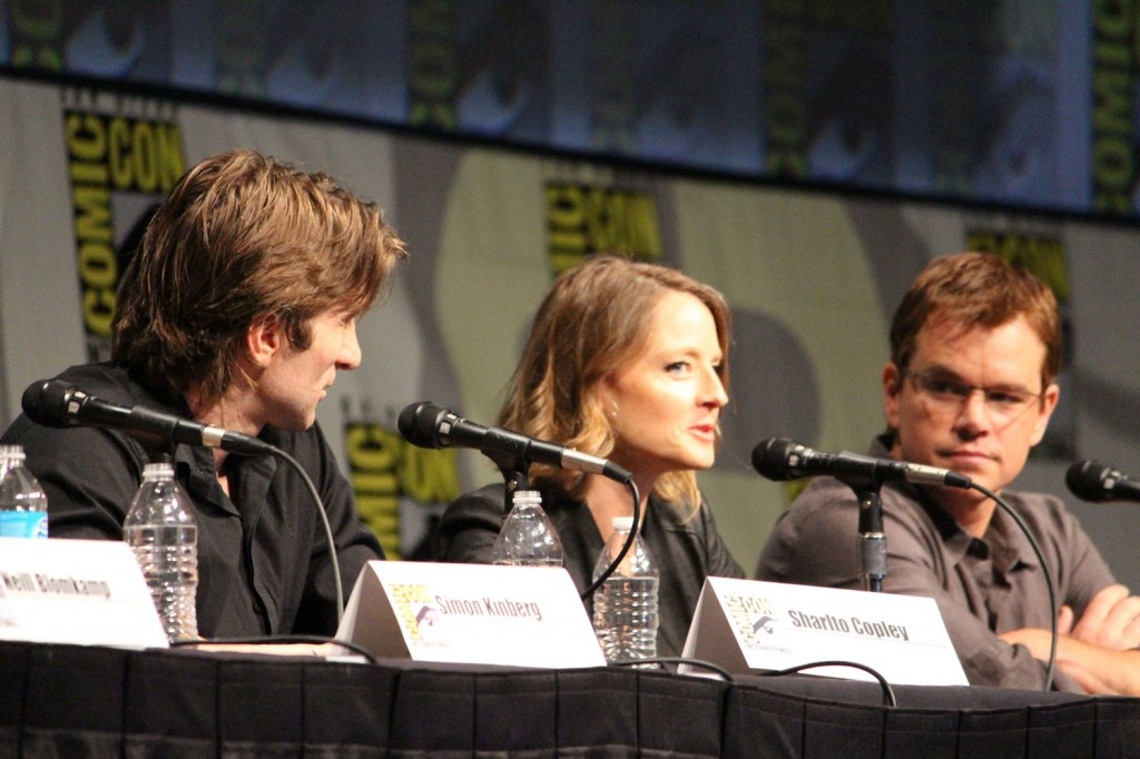 SDCC 2012: Elysium panel: Jodie Foster, Matt Damon, Sharlto Copley