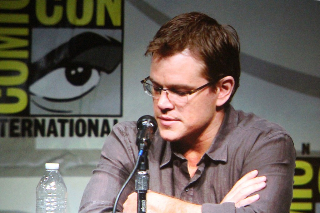 SDCC 2012: Elysium panel: Matt Damon