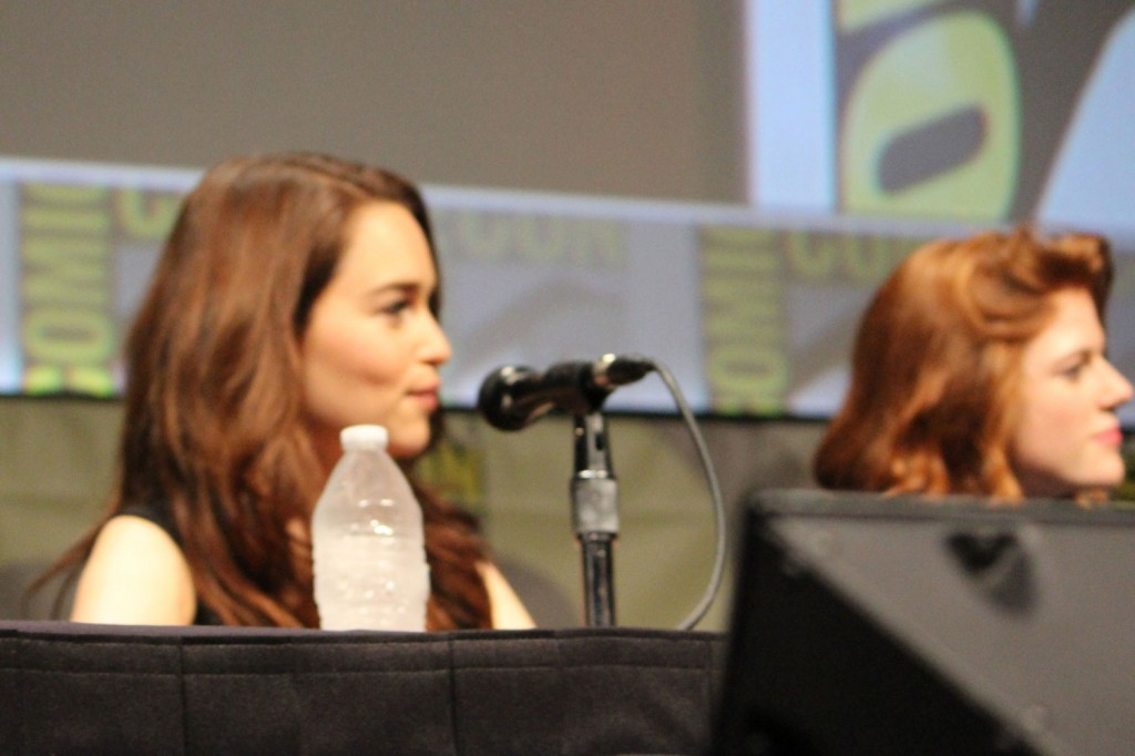 SDCC 2012: HBOs Game of Thrones panel: Emilia Clarke, Rose Leslie