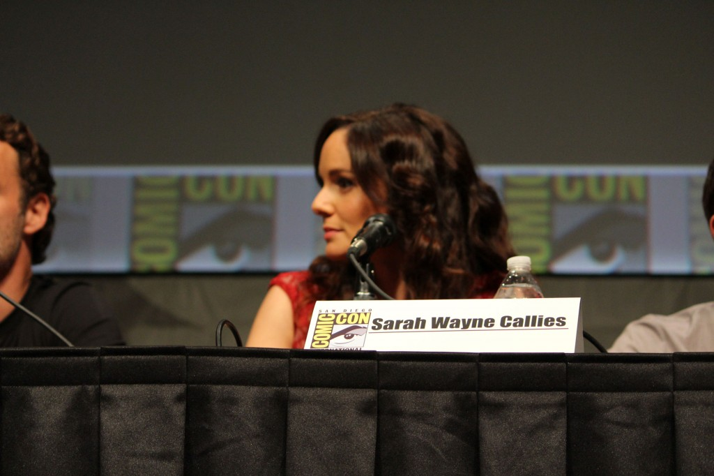SDCC 2012: The Walking Dead panel: Sarah Wayne Callies