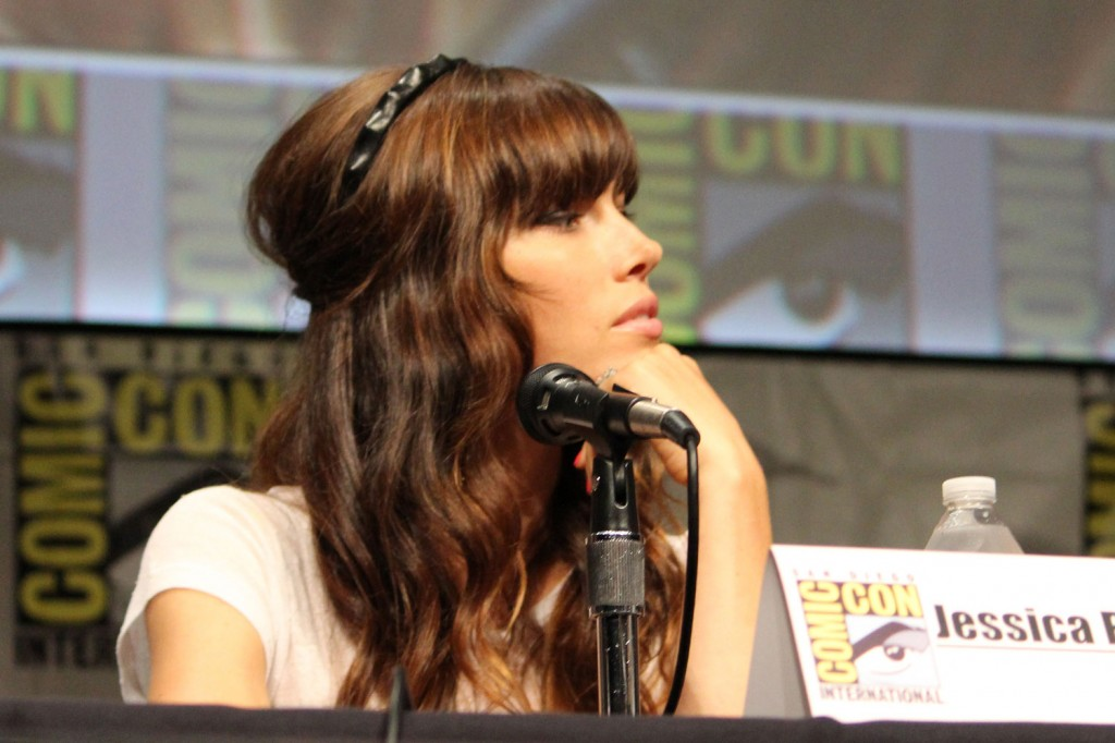 SDCC 2012: Total Recall panel: Jessica Biel