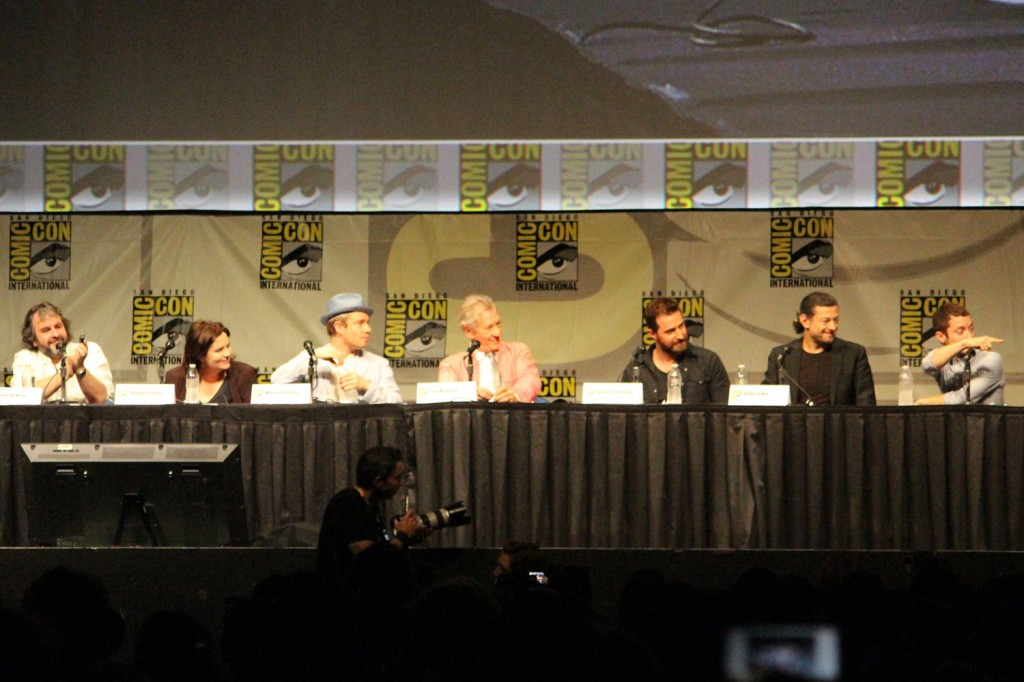 SDCC 2012: The Hobbit: An Unexpected Journey panel: director Peter Jackson, producer Philippa Boyens, Martin Freeman, Sir Ian McKellen, Richard Armitage, Andy Serkis, Elijah Wood