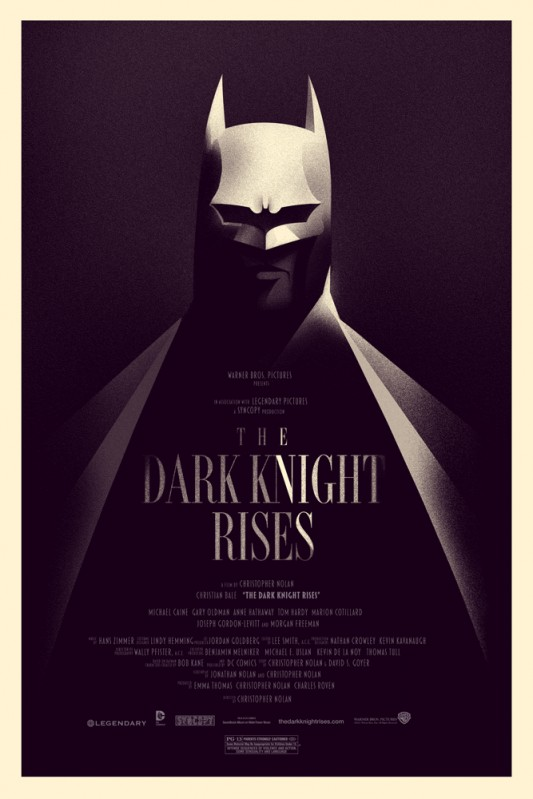 Olly Moss The Dark Knight Rises