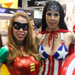 SDCC 2012: Cosplay Round-Up: Robin and Captain America crossplay