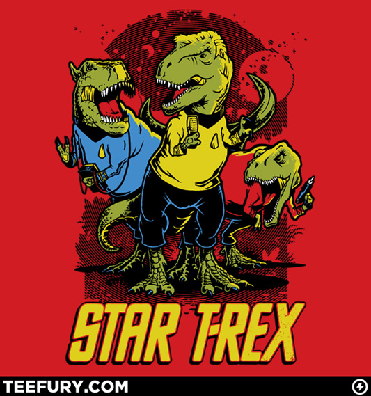Star Trek Star T-Rex Shirt