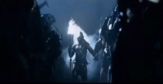 Lord Of The Rings: The Two Towers orc with torch