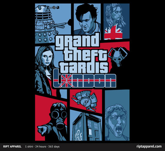 Doctor Who Grand Theft Tardis Shirt