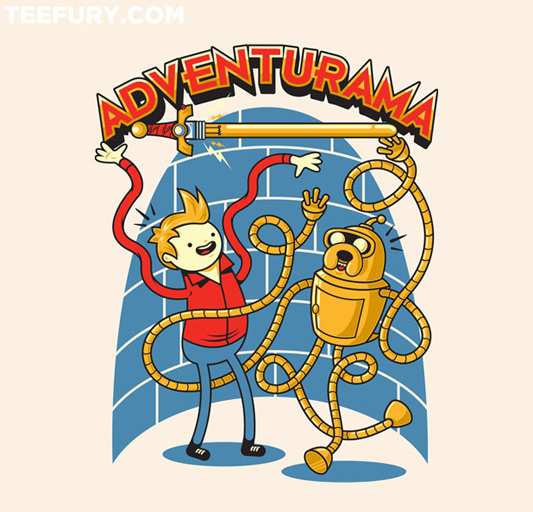 Futurama Adventure Time It's Adventur-ama Time shirt