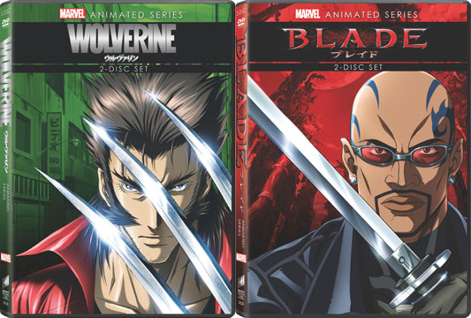 Marvel Anime: Wolverine and Blade DVDs