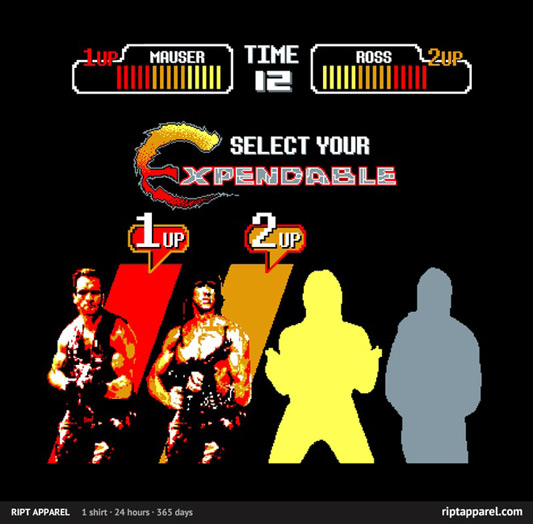 The Expendables 8-Bit 80&#039;s Heroes Shirt
