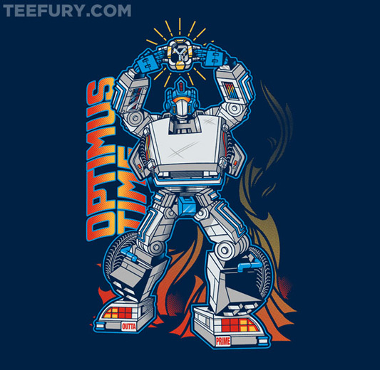 Transformers Back To The Future Optimus Time shirt